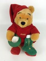 "Winnie the Pooh 2000 Holiday Pooh Bear 10"" Plush Stuffed Toy Walt Disney... - $31.14"