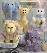 Toys for Tykes: animal crochet pattern: giraffe; mouse; elephant; lion; ... - $29.07