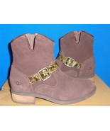 UGG Australia MILNOR Brown Suede Snake Strap Ankle Boots Size US 7.5 NEW... - $79.15