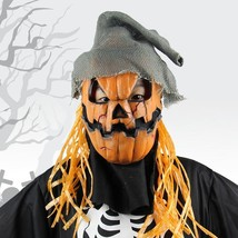 Novelty Latex Pumpkin Scarecrow Head Mask Halloween Costume Party Props with Hat - $19.99