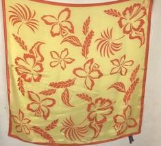 Ralph Lauren Silk Scarf Purple Label Hawaiian Print Yellow Orange Floral... - $79.99