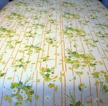 Utica Vintage Full Bed Flat Sheet Yellow Orange Green Floral 81 x 96 Per... - $29.69