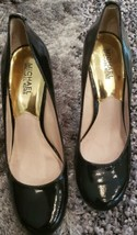 Michael Kors Womens FLEX Leather Round Toe, Black Patent, Size 8.5 M - $56.09