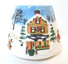 Yankee Candle HOLIDAY SNOW CHRISTMAS VILLAGE VILLAGE Small Jar Topper Shade - $15.00