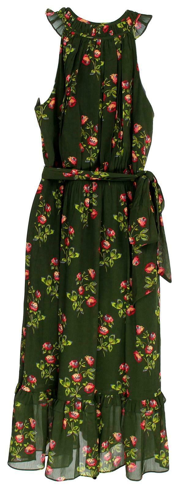 J Crew Women's Point Sur High-Neck Ruffle Floral Dress Chiffon 4 J5088 image 4