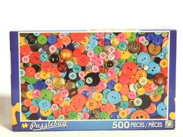 Puzzlebug 500 Piece Jigsaw Puzzle Oodles of Buttons New Free Shipping Ag... - $12.82