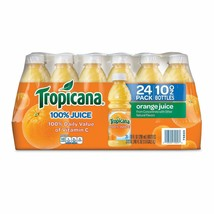 Tropicana 100% Bottled Orange Juice - 24 ct Case 10 oz Bottles from Conc... - $20.89