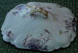 Vintage Haviland Limoges Hand Painted China Casserole Lid Square, VGC - LID ONLY - $19.79