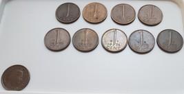 Lot of 9 1-Cent Queen Juliana Koningin der Nederlanden 1950-1978 - $3.95