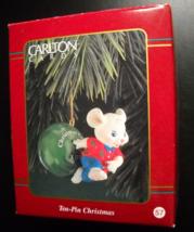 Carlton Cards Heirloom Christmas Ornament Ten-Pin Christmas Bowling Orig... - $8.99