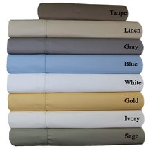 Wrinkle-Free 650 Thread Count Cotton Blend Solid Sheet Sets - $119.99