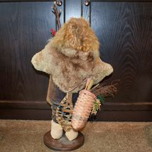 """Handcrafted Woodland Eskimo Santa Claus Father Christmas Signed 28"""" Cloth Doll image 3"""