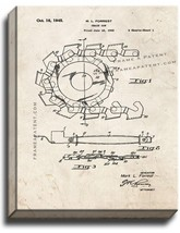 Chain Saw Patent Print Old Look on Canvas - $39.95+