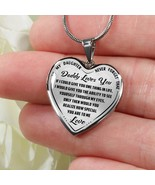 Best Gift for Daughter Novelty Luxury Necklace Bangle from Daddy Dad Fat... - $31.63+