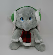 "Disney Store Holiday Winter Dumbo with Earmuffs 11"" Plush Stuffed Toy - $23.36"