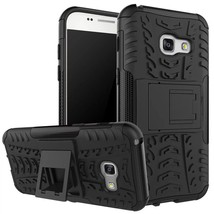 Kickstand Protective Phone Cover Case For Samsung Galaxy A3 (2017) - Black  - $4.99