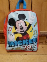 "Disney Mickey Mouse 28 Backpack 10"" Bookbag 2017 School Bag Red Blue  - $8.11"