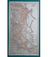 ALGERIA Algiers City Town Plan & Environs - 1911 MAP - $30.60