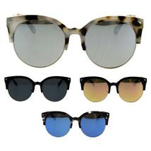 Womens Retro Thick Plastic Half Horn Cat Rim Designer Chic Sunglasses - $12.95