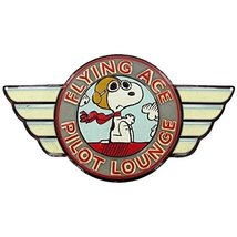 Flying Ace Pilot Embossed Die Cut Tin Sign - $28.42