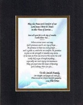 [Personalized Poem for Bereavement] May The Peace and Comfort of Our Lor... - $22.72