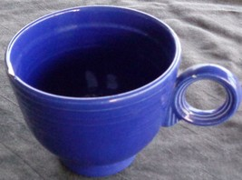 Vintage Fiesta Cobalt Blue Footed Cup Ring Handle -CHIP - HLC  COLLECTIB... - $8.90