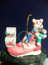 Enesco Coke Brand Christmas Ornament 1995. A Sip For Good Measure. Handcraft Nib - $14.85