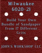 Build Your Own Bundle Milwaukee 6020-21 1/4 Sheet No-Slip Sandpaper 17 Grit - $0.99