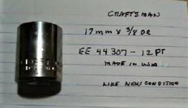 """Craftsman  17 mm x 3/8"""" Dr Socket  12 Point  EE 44307 - $7.84 CAD"""