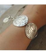Silver bracelet, wide bracelet, Boho wide bracelet (B286) - $32.00