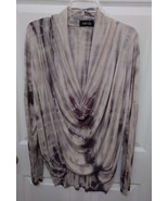 women's Fab-rik tan/Brown long sleeve scoop neck top size s - $8.35