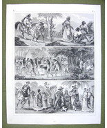 SOUTH AMERICA Natives Indians Negores Brazil Bahia- SUPERB 1844 Antique ... - $12.15
