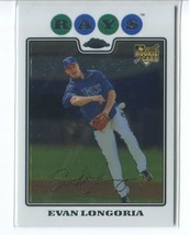 EVAN LONGORIA RC 2008 Topps Chrome #193 ROOKIE Rays - $4.49