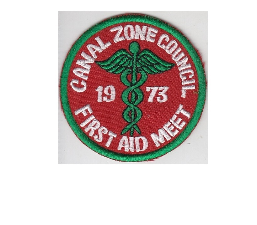 Boy scouts canal zone boy scout of america bsa first aid meet 1973 cz council panama 3.25 in