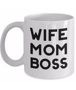 Wife Mom Boss 11oz Gift for Mother Coffee Mug Ceramic White Cup Boss Lad... - $19.11