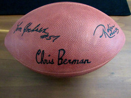 CHRIS BERMAN BOBIN ROBERTS TOM JACKSON ESPN VINTAGE NFL DUKE FOOTBALL NE... - $197.99