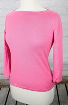 Ralph Lauren Silk Blend Boatneck Sweater Women's Petite PS 3/4 Sleeves Pink - $41.58