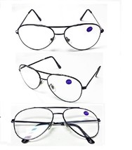Large Metal Black Aviator Frame No Line Clear Lens Reading Glasses +1.50... - $6.95