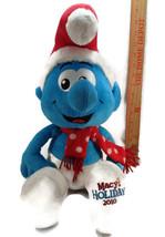 "2010 Macy's Holiday The Smurfs 21"" Plush Christmas Smurf Stuffed Toy Doll - $14.84"