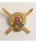 2002 Salt Lake City Winter Olympics Crossed Skis Official Insignia Pin L... - $143.55