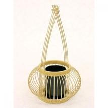 Japanese flower arrangement stand vase Senhime bamboo Shizuoka traditi - $92.22