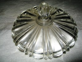 """Anchor Hocking """"Old Cafe"""" clear candy dish replacement cover - $4.00"""