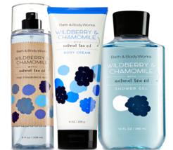 Bath & Body Works Wildberry & Chamomile Trilogy Set  - $39.15