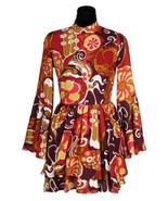 Ladies 70's Dress  - Rust / Brown   XS-XXL  - $48.27