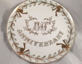 Vintage Lefton China 50th Anniversary Collector's Plate Japan #278 Hand Painted - $14.95