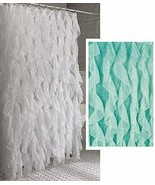 """Cascade Shabby Chic Ruffled Shower Curtain, 70"""" wide by 72"""" long, Sea, L... - $24.99"""