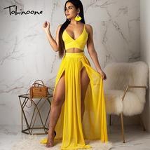 Tobinoone Black women dress Elegant deep v neck evening maxi dress Summe... - $43.96