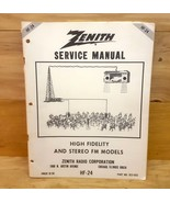 Service Manual Zenith High Fidelity And Stereo FM Models HF-244 58 page - $16.82