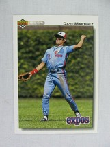 Dave Martinez Montreal Expos 1992 Upper Deck Baseball Card 382 - $0.98