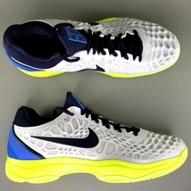 Nike Air Zoom Cage 3 HC Tennis Shoes Size 12 Men Hard Court Sneakers Whi... - $98.16